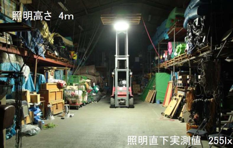 無電極ランプの明るさ